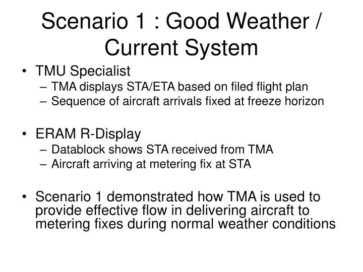 Scenario 1 : Good Weather / Current System
