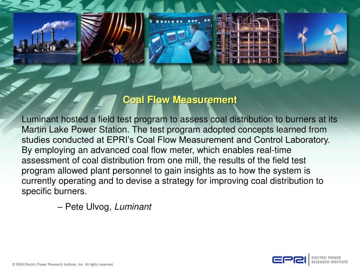 Coal flow measurement