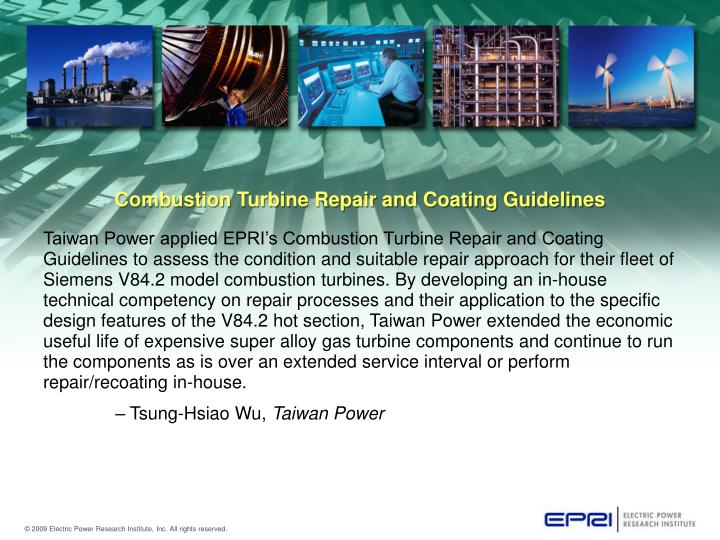 Combustion Turbine Repair and Coating Guidelines