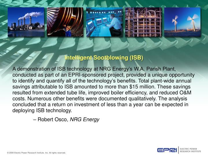 Intelligent Sootblowing (ISB)