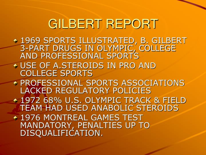 GILBERT REPORT