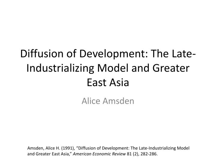 east asian industrialization and the third Ethiopia's industrialization drive under interest in east asian development experience third s industrialization drive under the growth and.
