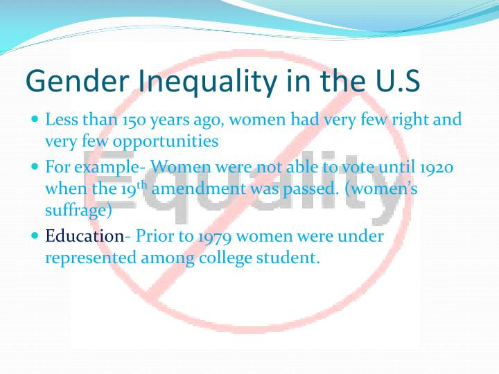Gender Inequality in the U.S