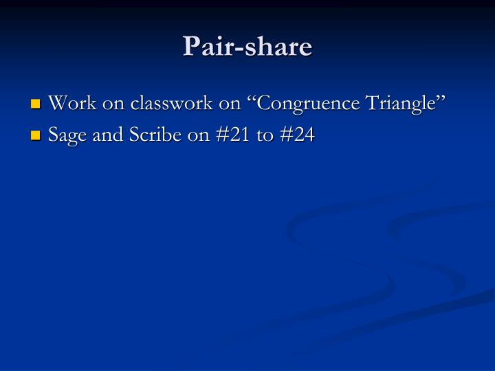 Pair-share
