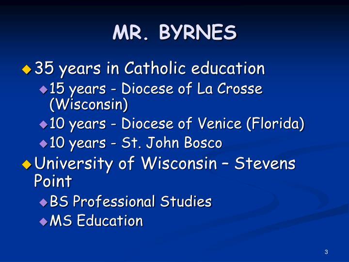 Mr byrnes