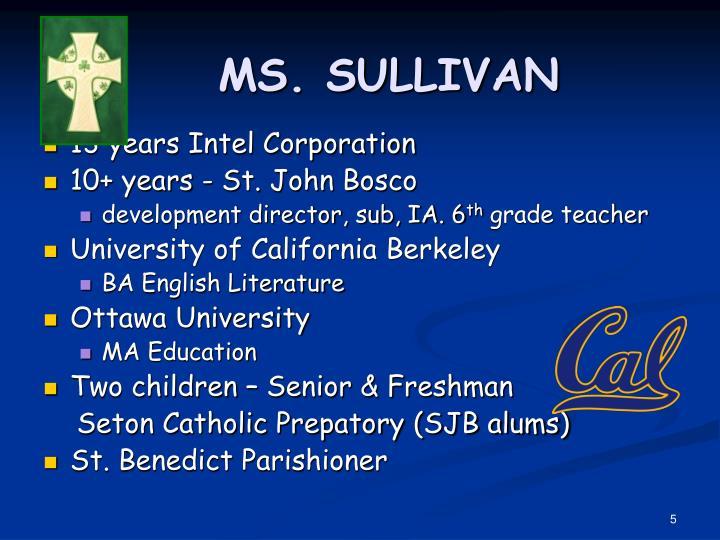 MS. SULLIVAN