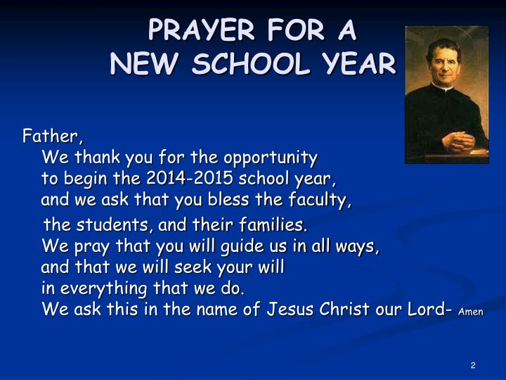 Prayer for a new school year