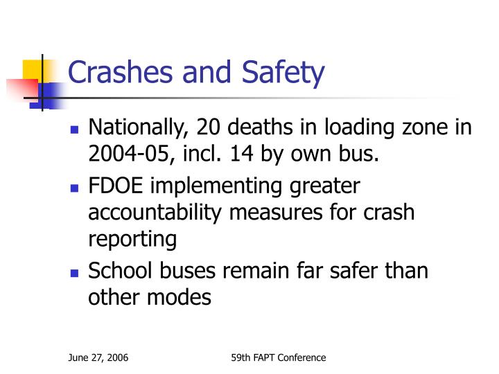 Crashes and Safety