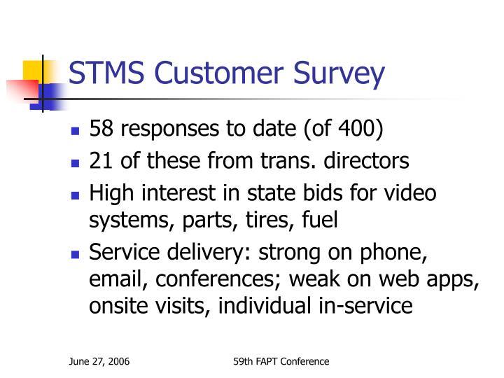 STMS Customer Survey