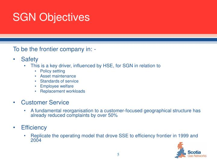 SGN Objectives