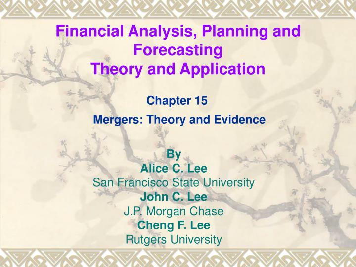 financial analysis planning and forecasting theory and application n.