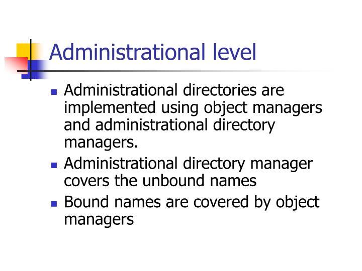 Administrational level