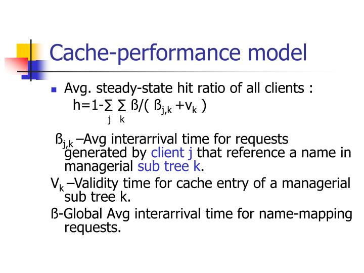 Cache-performance model