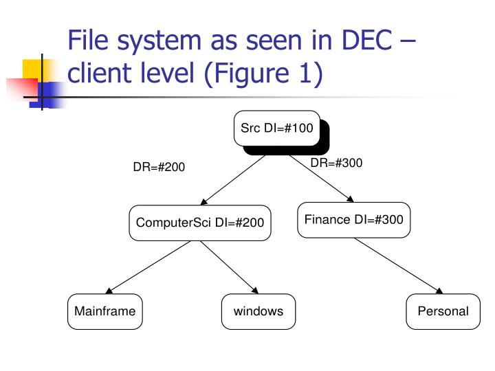 File system as seen in DEC – client level (Figure 1)