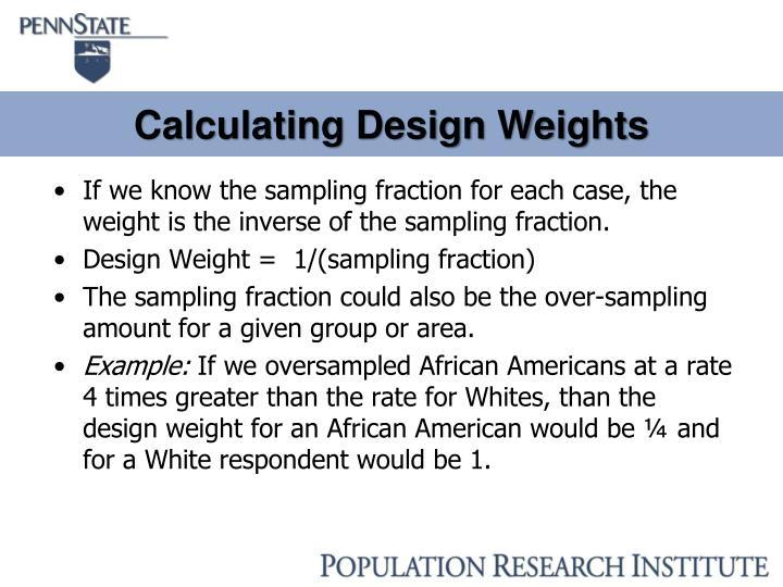 Calculating Design Weights
