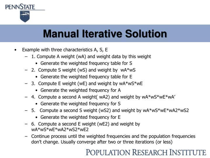 Manual Iterative Solution