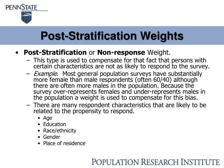 Post-Stratification Weights