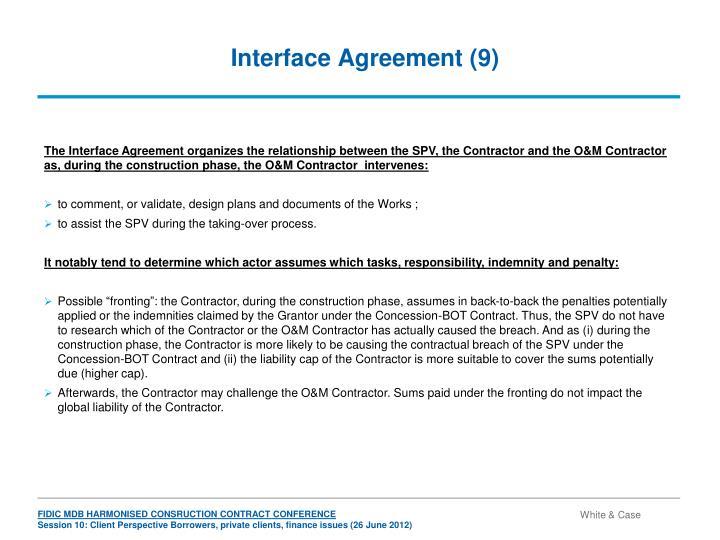 Interface Agreement (9)