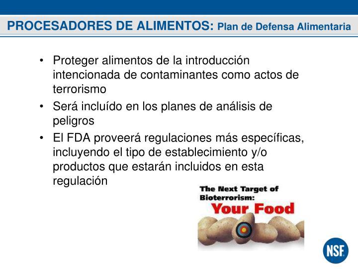 PROCESADORES DE ALIMENTOS: