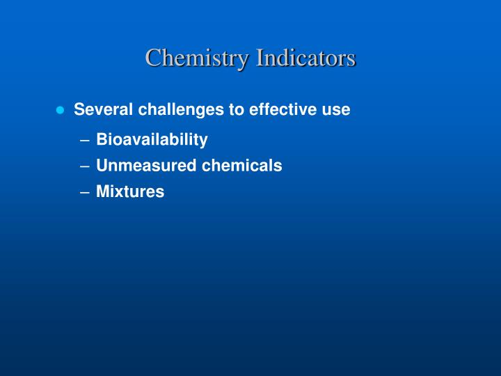 Chemistry Indicators
