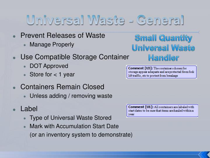 Ppt Hazardous And Universal Waste Powerpoint