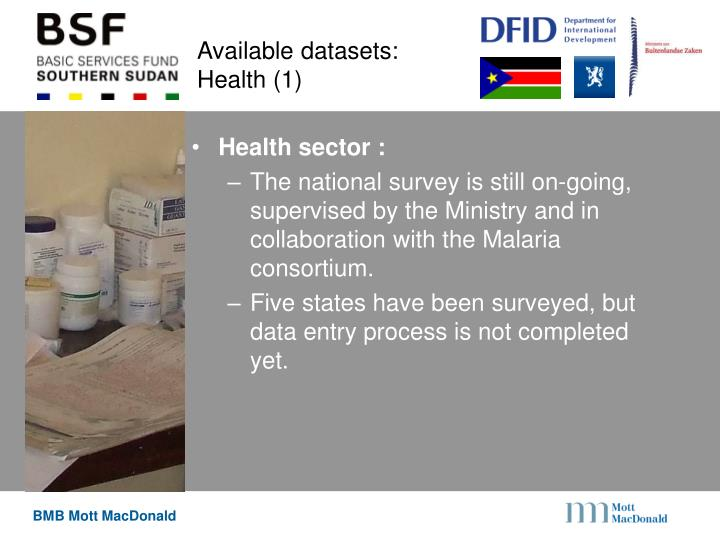 Available datasets: Health (1)