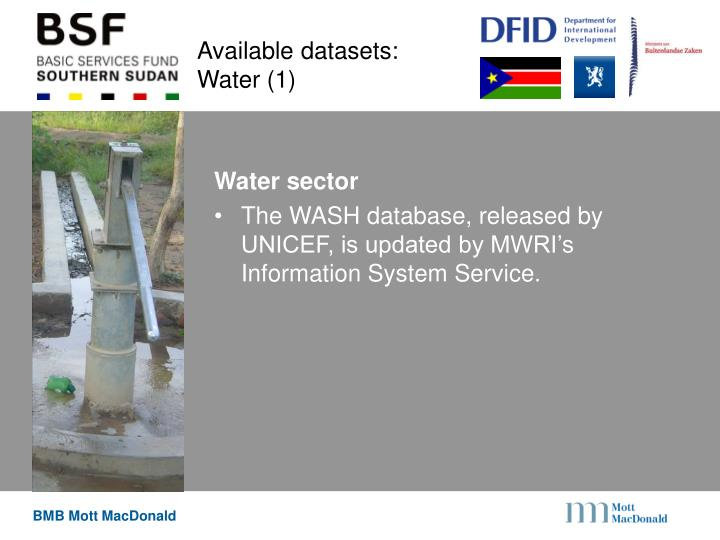 Available datasets: Water (1)