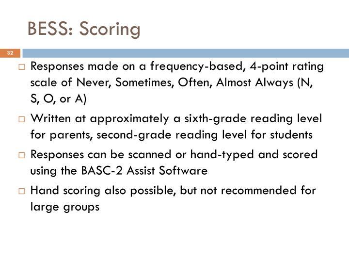 bess score interpretation