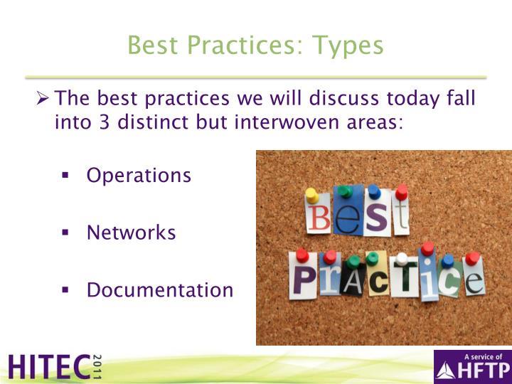 Best Practices: Types