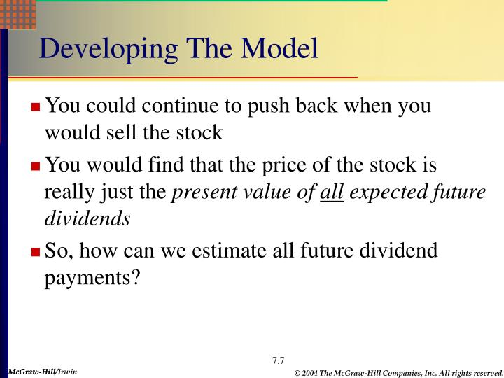 Developing The Model