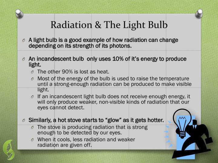 Radiation & The Light Bulb