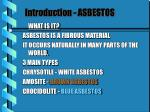 introduction asbestos