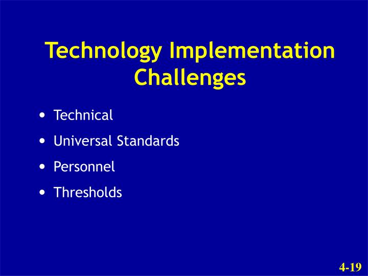 Technology Implementation Challenges