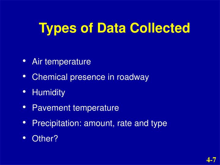 Types of Data Collected