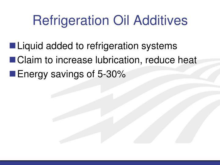 Refrigeration Oil Additives