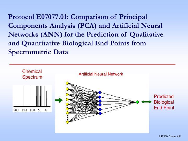 Protocol E07077.01: Comparison of Principal