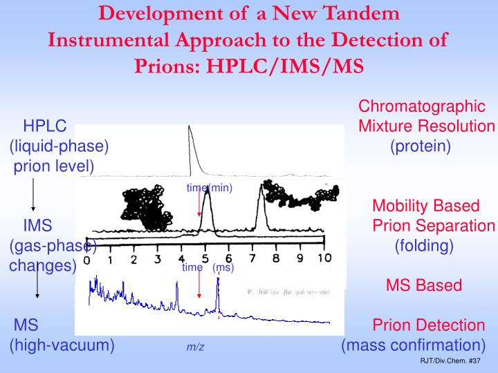 Development of a New Tandem Instrumental Approach to the Detection of Prions: HPLC/IMS/MS