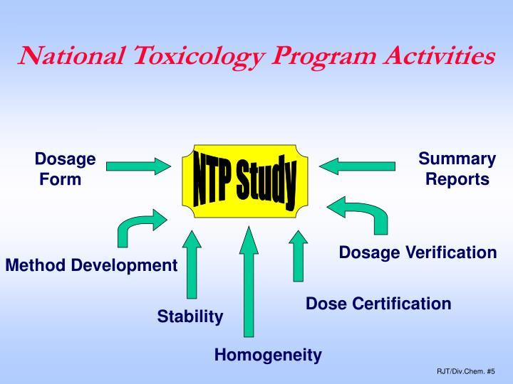National Toxicology Program Activities