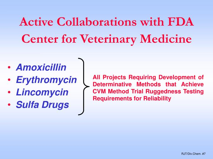 Active Collaborations with FDA