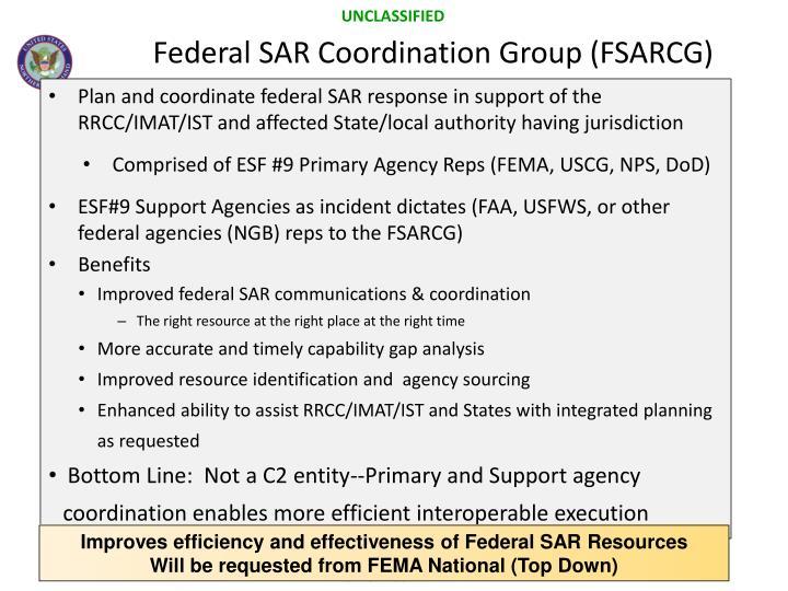 Federal SAR Coordination Group (FSARCG)