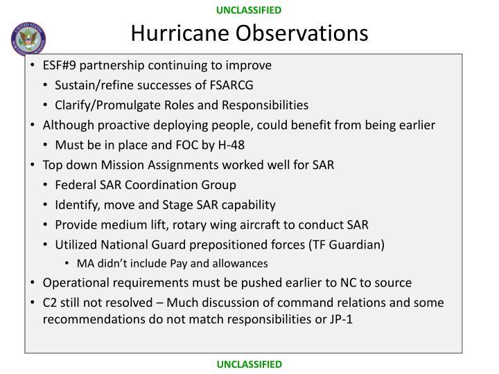 Hurricane Observations