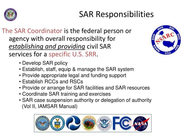 SAR Responsibilities