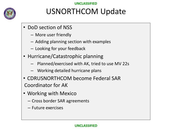 USNORTHCOM Update