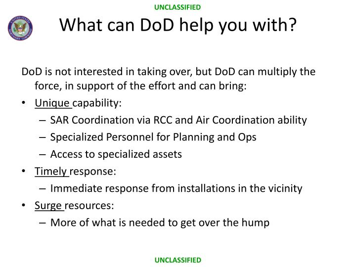 What can DoD help you with?