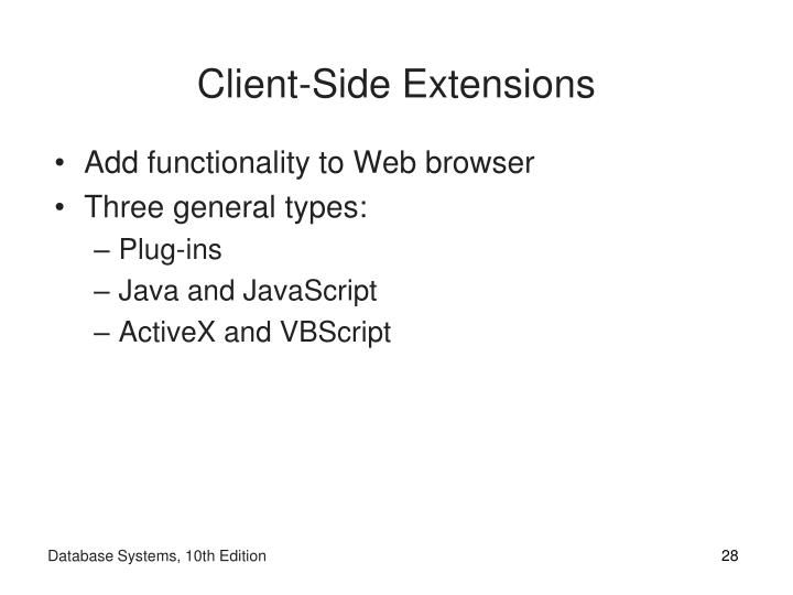 Client-Side Extensions