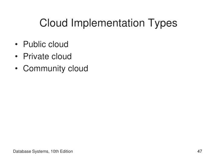 Cloud Implementation Types