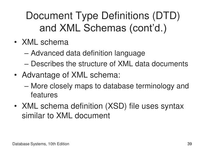 Document Type Definitions (DTD)