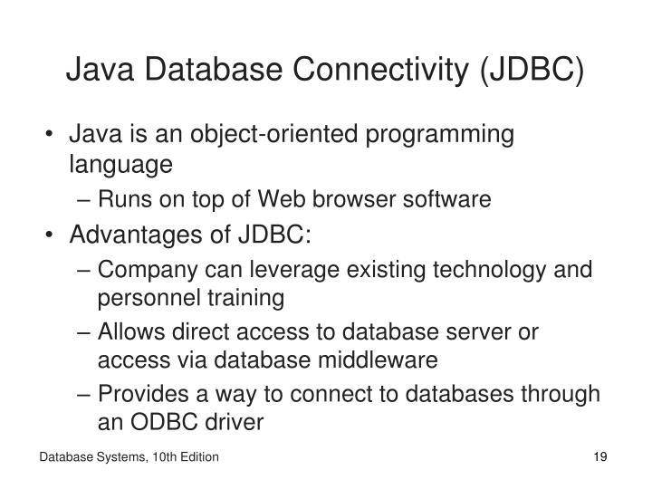 Java Database Connectivity (JDBC)