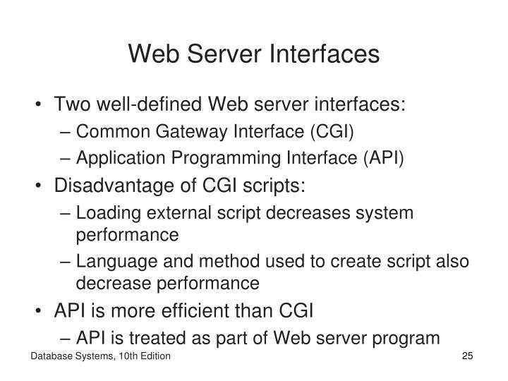 Web Server Interfaces