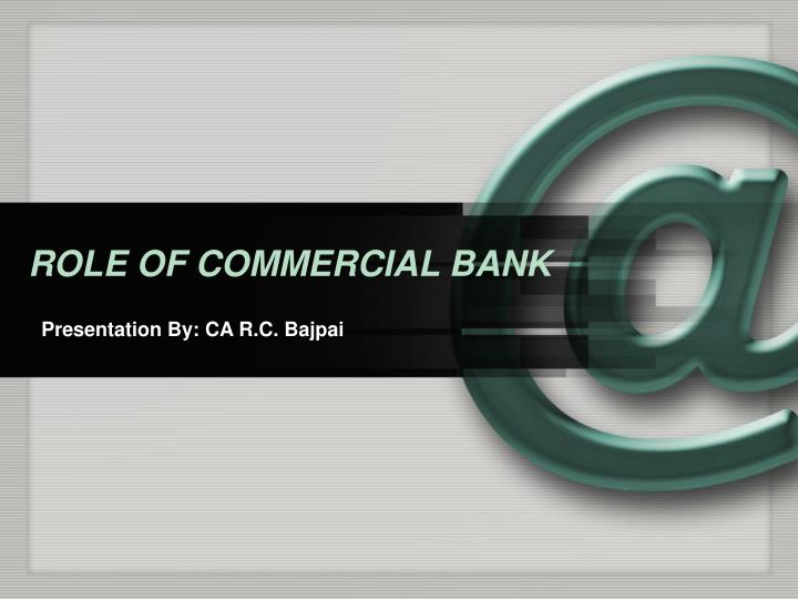 role of commercial bank n.